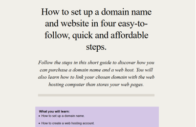 Porfolio: How-to-set-up-a-website